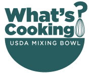What's Cooking? - USDA Mixing Bowl Logo